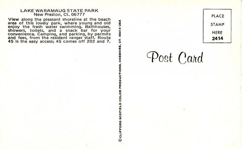 CT - New Preston. Lake Waramaug State Park