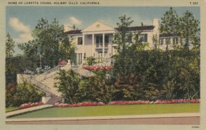 HOLMBY HILLS, California, 1943; Home of Loretta Young