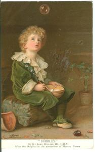Bubbles, by Sir John Millais, 1997 used Postcard