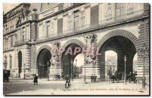 Paris Old Postcard The Louvre wickets rating of the Seine