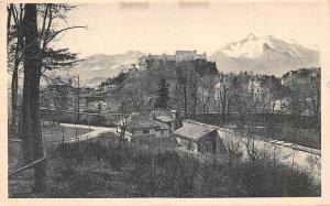 Salzburg vom Kapuzinerberg Schloss, Castle Panorama Mountain