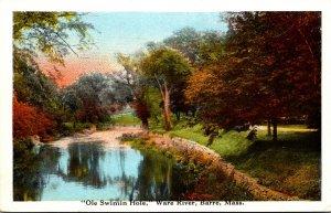 Massachusetts Barre Ware River Ole Swimin Hole Curteich