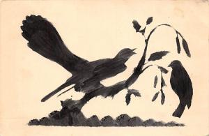 Silhouette Painting birds gemaelde 1938