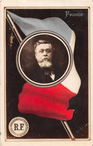 France Flag and President Armand Fallieres Antique Postcard J50781