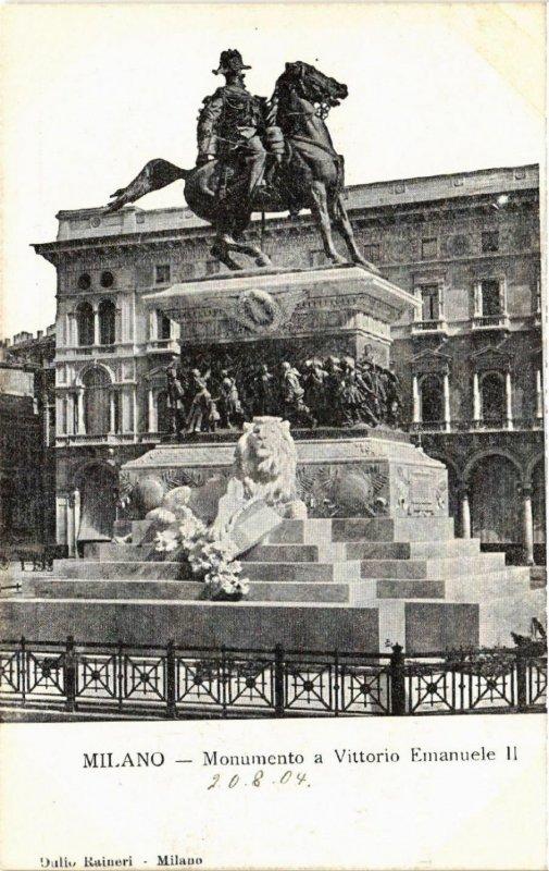 CPA AK MILANO Monumento a Vittorio Emanuele II ITALY (541800)