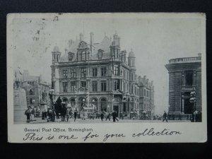 West Midlands BIRMINGHAM General Post Office c1904 Postcard
