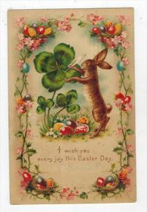 2272  Easter HOLD TO LIGHT 4 Leaf Clover Rabbit