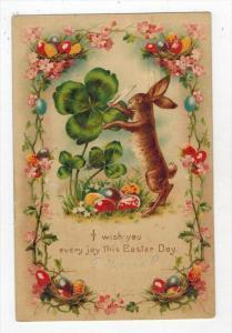 2272  Easter HOLD TO LIGHT 4 Leaf Clover Rabbit