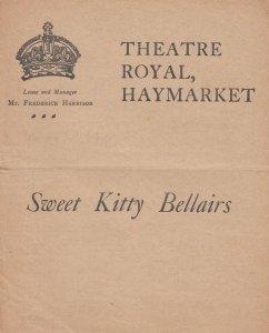 Sweet Kitty Bellairs Haymarket Antique Comedy Theatre Programme