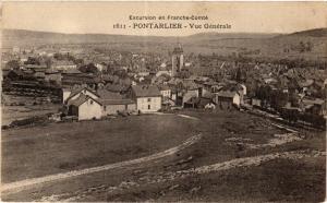 CPA Excursion en Franche-Comté - PONTARLIER - Vue Générale (299914)