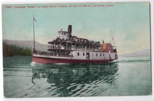Steamer Idaho on Lake Coeur D'Alene, St Joe River ID