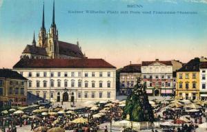 Czech Republic - Brünn Kaiser Wilhelm Platz mit Dom und Franzens Museum 02.25