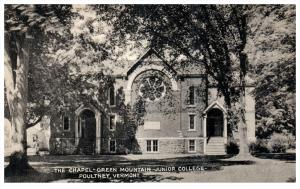 20364  VT Poultney  Green Mtn. Junior College - the Chapel