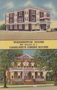 New Jersey Mt Holly Washington House And Carslake Dining Room Curteich