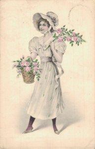 Art Nouveau Romantic With Flowers 04.76
