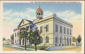 TALLAHASSEE FL -  Post Office and Government Court House, 1930s
