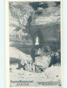 W-border MARTHA WASHINGTON STATUE Mammoth Cave Park - Cave City KY AD4526