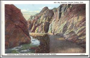 Colorado Poudre Canyon Postcard