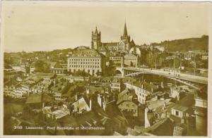 Switzerland Lausanne Pont Bessieres et la Cathedrale