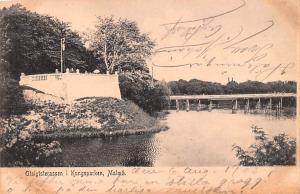 Sweden Old Vintage Antique Post Card Utsigtsterassen I Kungsparken Malmo 1905