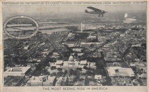WASHINGTON D.C. , 1920s ; Airplane overhead