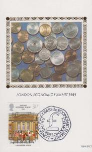 London Economic Summit 1984 Lancaster House Money Rare Benham First Day Cover