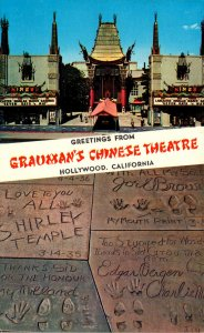 California Hollywood Greetings From Grauman's Chinese Theatre