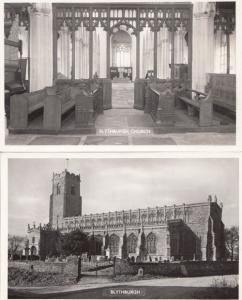 Blythburgh Church Norfolk 2x Vintage Real Photo Postcard s