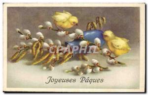 Fancy Old Postcard Happy Easter Chicks