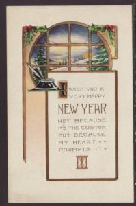 A Very Happy New Year Postcard