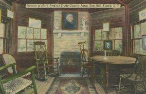 Mark Twains Study Quarry Farm East Hill Elmira NY Posted Vintage Linen Post Card