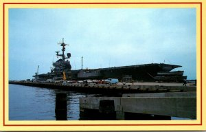 Virginia Norfolk Naval Base Coral Sea CU 43 Naval Aircraft Carrier At The Pier