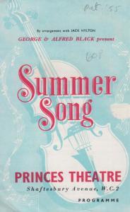 Summer Song Thomas Baptiste Coronation Street Musical Theatre Programme