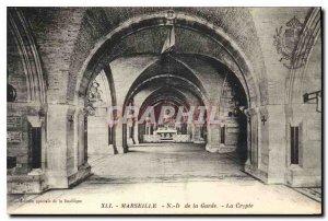 Postcard Old Marseille N D Guard Crypt
