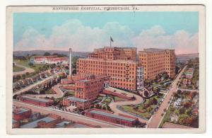 P404 JL old postcard montefiore hospital pittsburg penn
