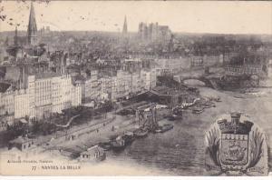 NANTES, La Belle, Coat of Arms, Loire Atlantique, France, PU-1914