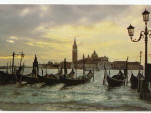 VENEZIA, Molo di S. Marco all'alba, 1984 used Postcard