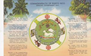 Commonwealth of Puerto Rico Government Seal , 30-40s