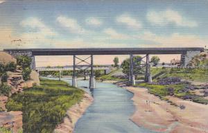 Bridges over Pecos River , SANTA ROSA , New Mexico , PU-1940