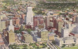 Tennessee Memphis Aerial View Of Memphis Business District
