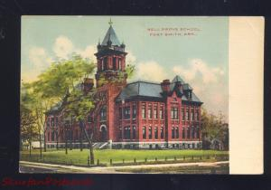 FORT SMITH ARKANSAS BELL GROVE SCHOOL ANTIQUE VINTAGE POSTCARD