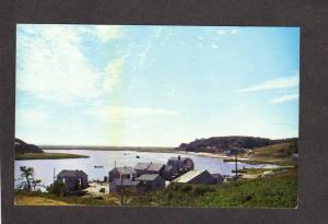 MA Cape Cod Oyster Houses Pond River Chatham Mass Massachusetts Postcard PC