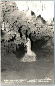 Stanton, Missouri RPPC Postcard MERAMEC CAVERN The Virgin Mary Route 66 c1940s