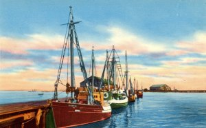 MA - Provincetown, Cape Cod. Fishing Boats at the Wharf