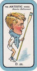 Carreras Small Vintage Cigarette Card The Nose Game No D8 The Artistic Nose D...