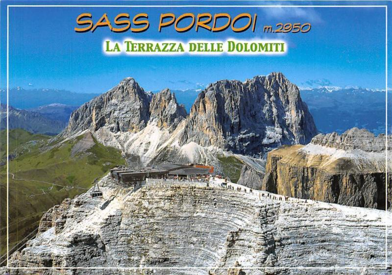 Italy Sass Pordoi La Terrazza Delle Dolomiti Mountain Hippostcard