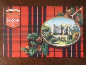 Tuck's Scottish Clans Seris 6, #9481 The Macauly Tartan, Ardincaple Castle D12