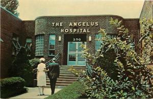 Pittsburgh PA~Nurse Approaches Art Deco Angelus Hospital & Rehabilitation 1950s