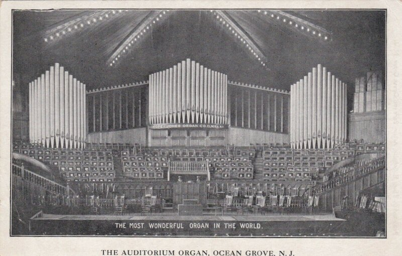 OCEAN GROVE , New Jersey , 1903 ; Auditorium Pipe Organ
