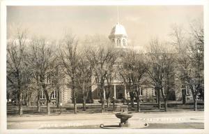 Carson City Nevada~State Capitol~Drinking Fountain Across Street~1950s RPPC